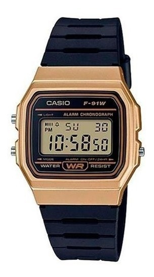 Relógio Casio Unissex Digital F-91wm-9adf Classico F91