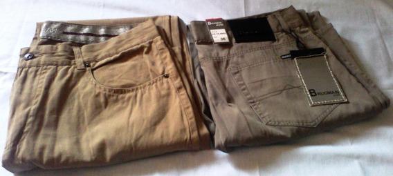 Pantalones Caqui Nuevos Caballero Talla 36 Brugman Jeans