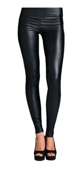 Leggins De Cuero Calza Engomada Calce Perfecto Mujer Fw19