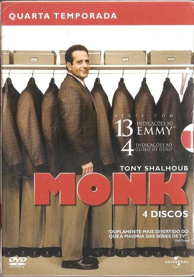 Box Monk - 4 Temporada (4 Dvd ) Tony Shalhoub (novo Lacrado)