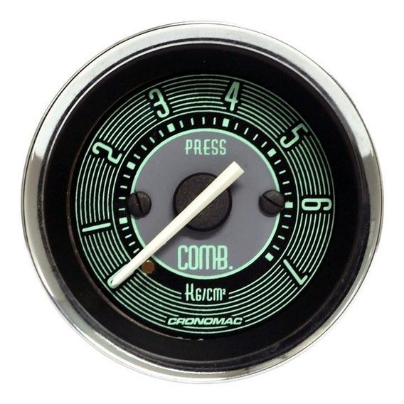 Manômetro Pressão Combustível 7kg 52mm Volks Line - Cronomac