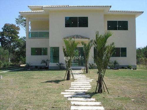 Imagem 1 de 23 de Casa Duplex, Em Centro De Grande Terreno Plano, Condomínio Fechado, Lazer Privativo, 04 Qts./04 Suítes, 240 M², R$ 1.800.000,00 - Ubatiba - Maricá/rj - Ca17709