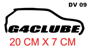 Adesivo Decorativo Para Carro G4clube Carro Gol Quadrado Tun