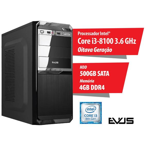 Microcomputador Desktop Evus Modelo Trend 504 Oitava Geraçã