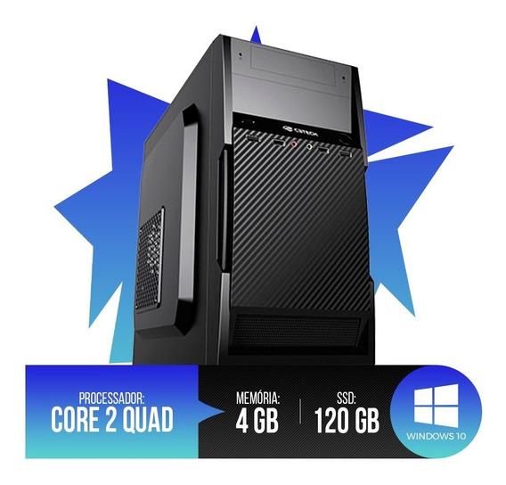 Pc Intel Core 2 Quad,4gb Ram Ddr3,hd Ssd 120gb Super Oferta