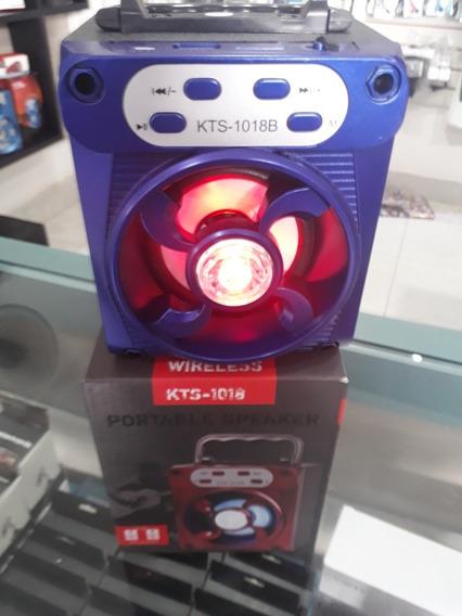 Caixa De Som Portalil Com Usb Bluetooth Kts 1018b