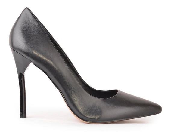 Zapatos Stiletto De Cuero Y Charol Taco Alto Abril - Ferraro