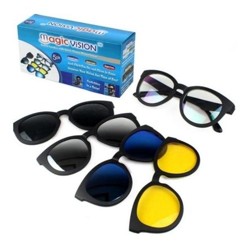 Gafas Intercambiable Color Lente Magic Vision 5 En 1
