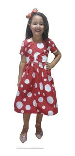 Vestido Infantil Estampado P/ Festa Luxo Kit Com 06