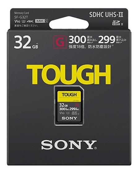 Cartão Sdxc Sony 32gb Sf-g Tough Serie G Uhs-ii V90 300 Mb/