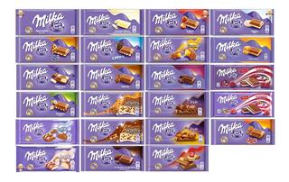 Kit 10 Chocolate Barra Milka 100g Importado - Vários Sabores
