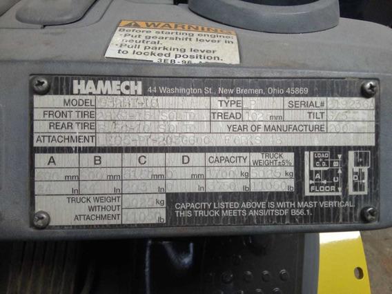 Montacargas Hamech Año 2010 6000 Lb Gas Lp #96