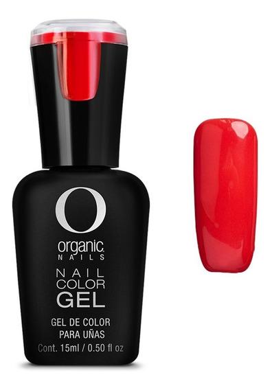 Color Gel Esmalte Uñas By Organic Nails Color Sailor Carmesi