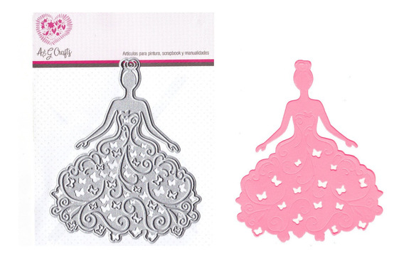 Suaje De Vestido Mariposas Xv Años Troquel Oblea #0272