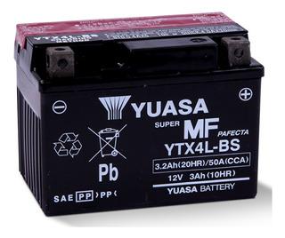 Bateria Para Motocicleta Yuasa Ytx4l-bs Libre Mantenimiento
