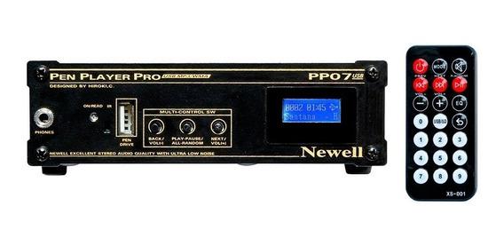 Reprodutor De Músicas Mp3/wma Em Pen Drive C/lcd Newell Pp07