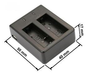 Carregador Para Bateria Sjcam Sj4000- Duplo Usb
