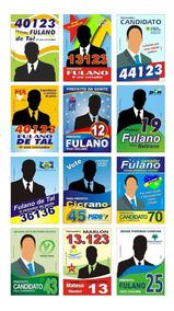 Santinhos Políticos Vetorizados Coreldraw