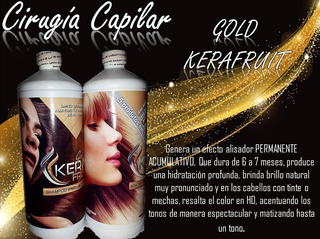 Alisados,gold Kerafruit.brasilero,cera Fria Capilar,keratina