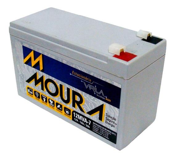Bateria Moura 12v 7ah Nobreak Alarmes E Outros