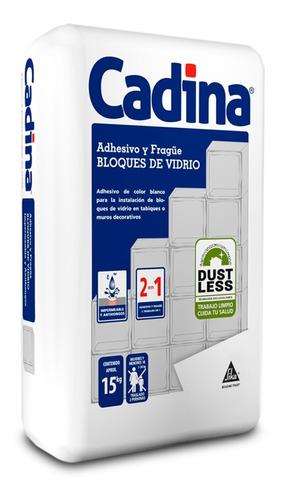 Imagen 1 de 4 de Cadina Adhesivo Y Fragüe Para Bloques De Vidrio 15 Kg