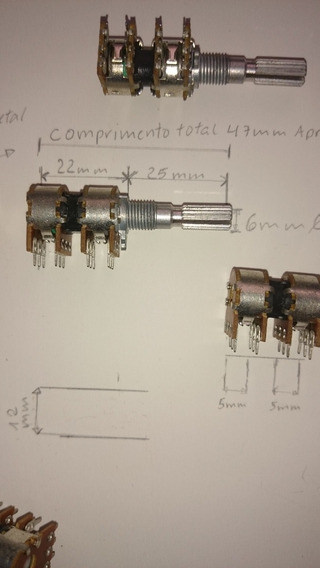 Potenciometro E100k Duplo Quatro Grupo Orig Crossove Lexen