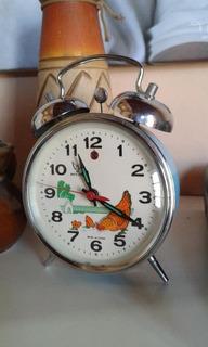 Reloj Despertador A Cuerda Gallinita Antiguo
