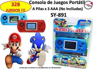 Consola De Juegos Portatil Sy-891 + 328 Juegos !!!