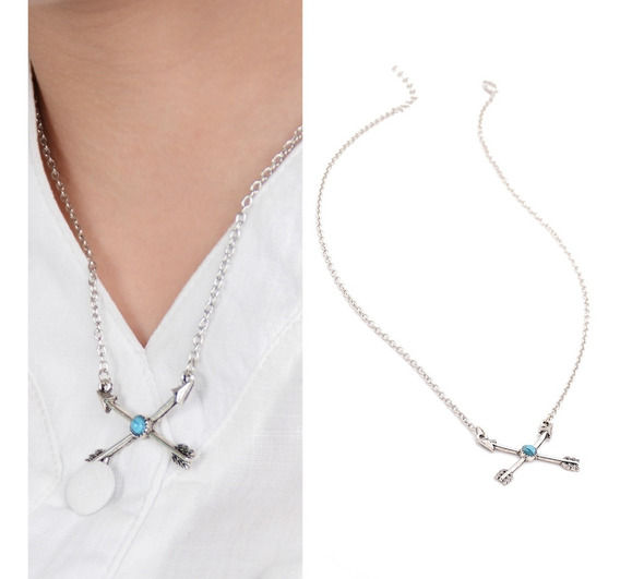 Collar Flechas Plateado Katnis Everdeen Exclusivo N-455 F