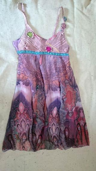 Vestido Rosa Para Mujer Farinelli Talle M