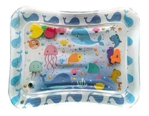 Tapete Almofada De Água Inflável Infantil Baleia Azul