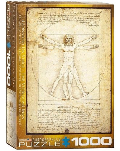 Imagen 1 de 2 de Da Vinci Hombre Vitruvio Rompecabezas 1000 Pza Eurographics