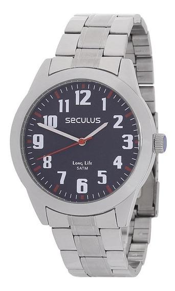 Kit Relógio Seculus 5atm Masculino Ecanivete 11 Funções23806