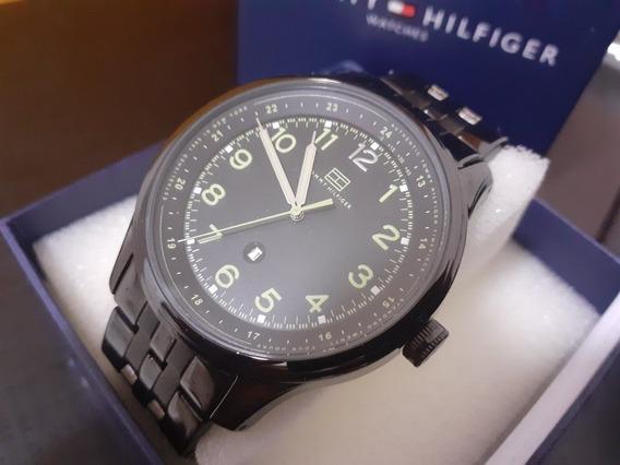 Relógio Tommy Hilfiger Black Steel Original