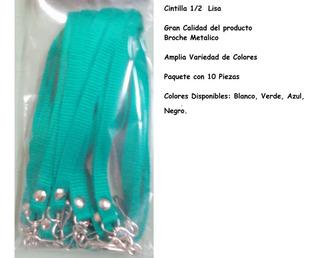 Cintilla 1/2 Porta Gaffete Con 10 Piezas Lisa