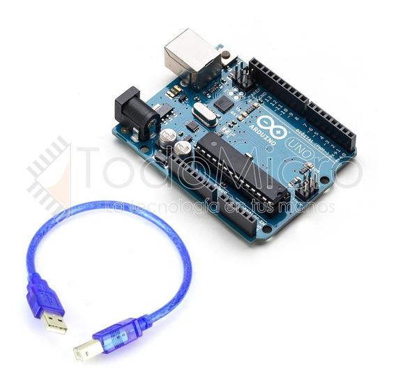 Arduino Uno R3 Atmega16u + Atmega328 Atmel Robotica Todomicr
