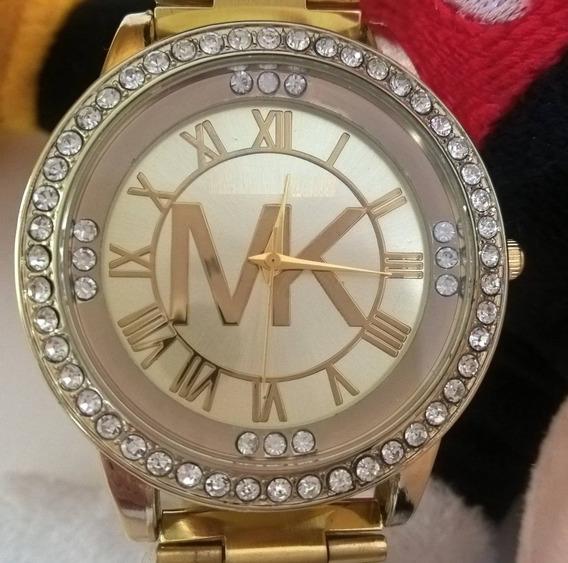 Relógio Feminino Dourado Bonito Barato Pulseira Promoção