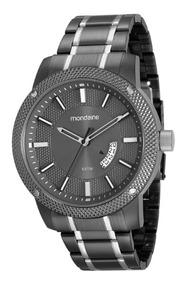 Relógio Mondaine Masculino Aço Cinza 34028