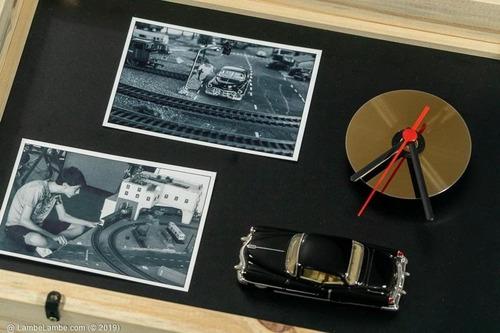 Relógio De Parede Porta-retrato Cd/dvd 1953 Cadillac 62