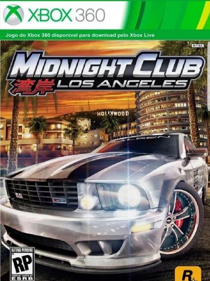 Midnight Club: Los Angeles-xbox 360-midia Digital