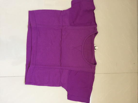 Remera Top Basico Ancho Violeta Forever 21