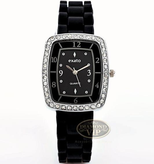 Relógio Feminino Prata Promoção Barato Pronta Entrega Novo