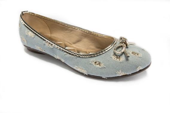 Sapatilhas Femininas Via Ouro Jeans Gliter