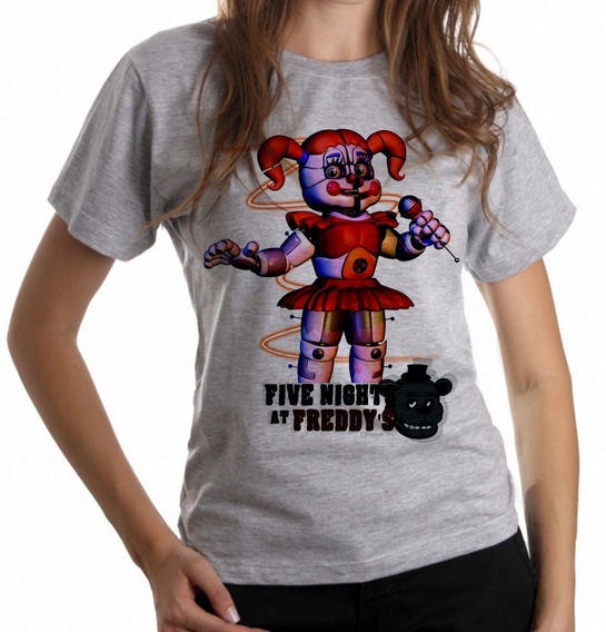 Blusa Baby Look Five Night At Freddys Circusbaby Game Terror