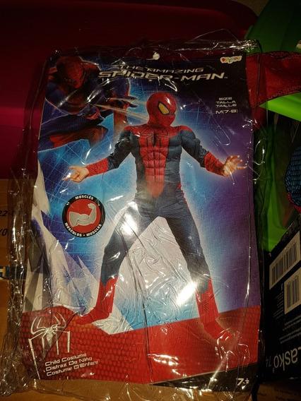 Disfraz De Spiderman Talla Mediana Niño De 7 A 8 Años. Ofici