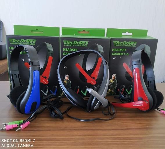 Fone Gamer De Ouvido Headset Com Microfone P2