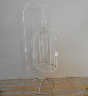 Jaula Decorativa Colgante Crema (centros De Mesa/decoración
