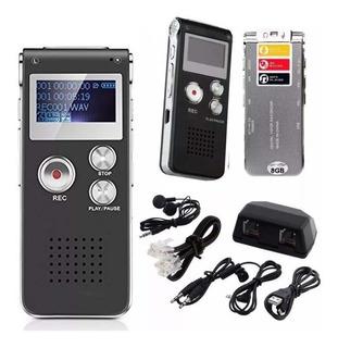 Grabador Digital De Voz Periodista 8gb Bateria + Auriculares