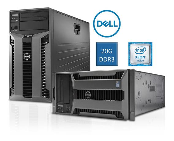 Servidor Dell Poweredge T610 24gb Xeon Quad 2 Hds Sas 300gb