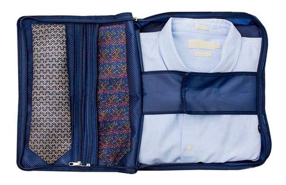 Kit 5 Porta Camisa Gravata Organizador Viagem Secalux